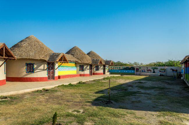 First view of Rann Chandni Resort Hodka - Rann of Kutch