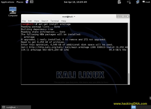 Installing armitage on kali linux