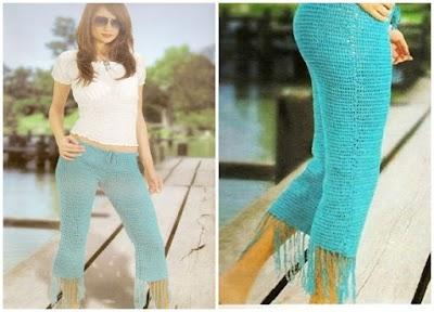 Pantalones Capri de Crochet Patron