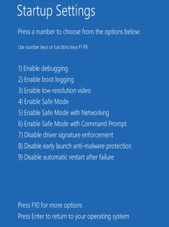 tekan F4 untuk safe mode
