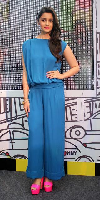 Alia Bhatt In Blue Gauri and Nainika Jumpsuit