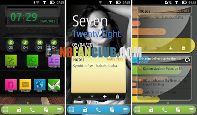 New Widgets: Notes - Text Clock - Flip Clock - Belle v111.040.0704 - Leaked by Taylor for Nokia N8 - 808 PureView