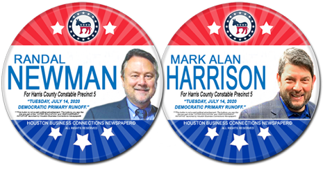 Randal Newman and Mark Alan Harrison are the Dem Candidates for Constable, Precinct 5