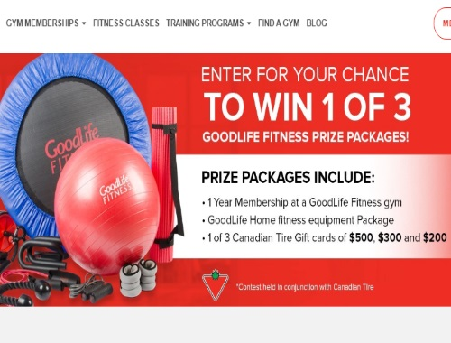 Canadian Tire Good Life Fitness Prize Package Contest
