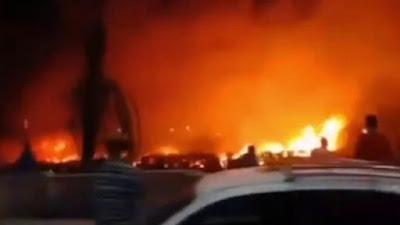 حريق قرب محطة قطار المنيا, قطار المنيا,