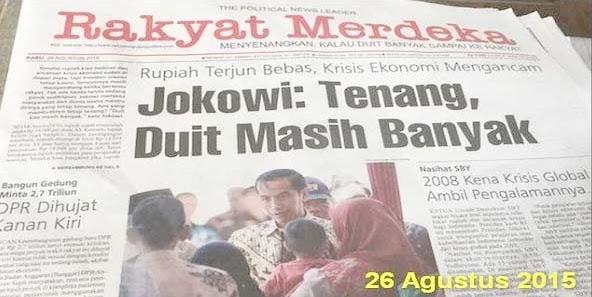 Jokowi Berhasil Cetak Rekor Utang Tertinggi Sejak Indonesia Merdeka