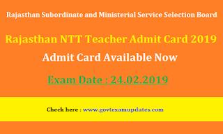 Rajasthan NTT