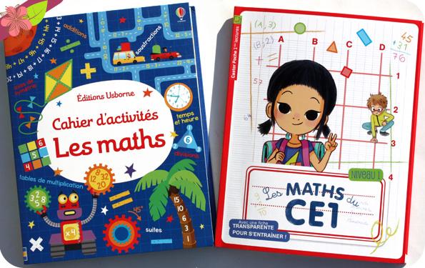 Les maths du CE1, Flammarion et Cahier d'activités : Les maths, usborne.