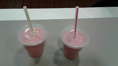 Two McDonald's Strawberry Banana Smoothies