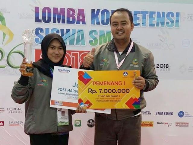 Siswi SMKN 1 Pacet Raih Medali Emas di LKS SMK Nasional 2018