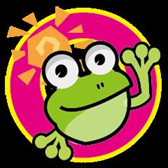 Happy vitality frog.