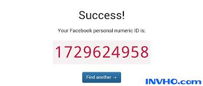 Numeric ID Facebook
