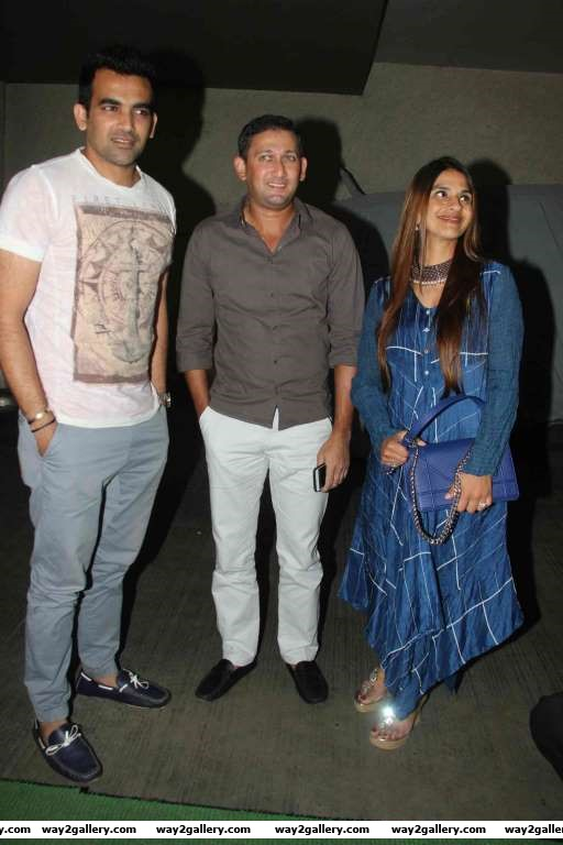 Zaheer Khan and Ajit Agarkar descended at the special screening of Neerja