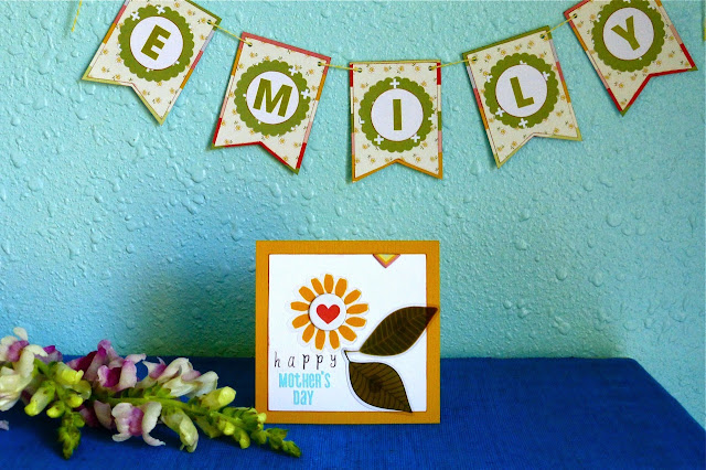 Mother's Day, Mother's Day Greeting Card, Name Banner, scrapbook supplies, use scrapbook supplies to make card, use scrapbook supplies to make banner