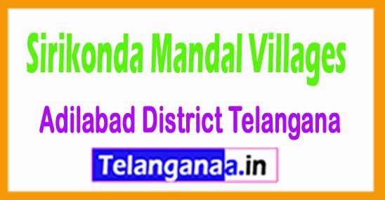 Sirikonda Mandal and Villages in Adilabad District Telangana