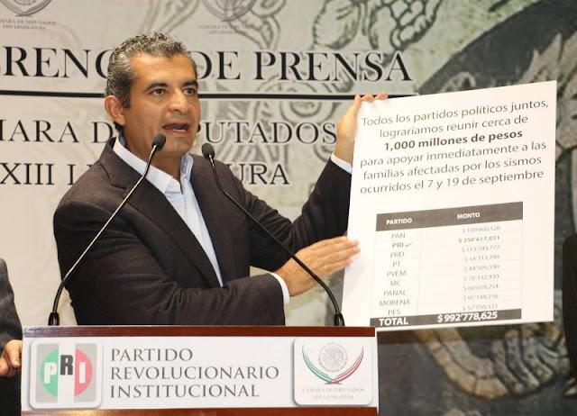 Usuarios de las redes tachan a Ochoa Reza de oportunismo político ante la tragedia en México