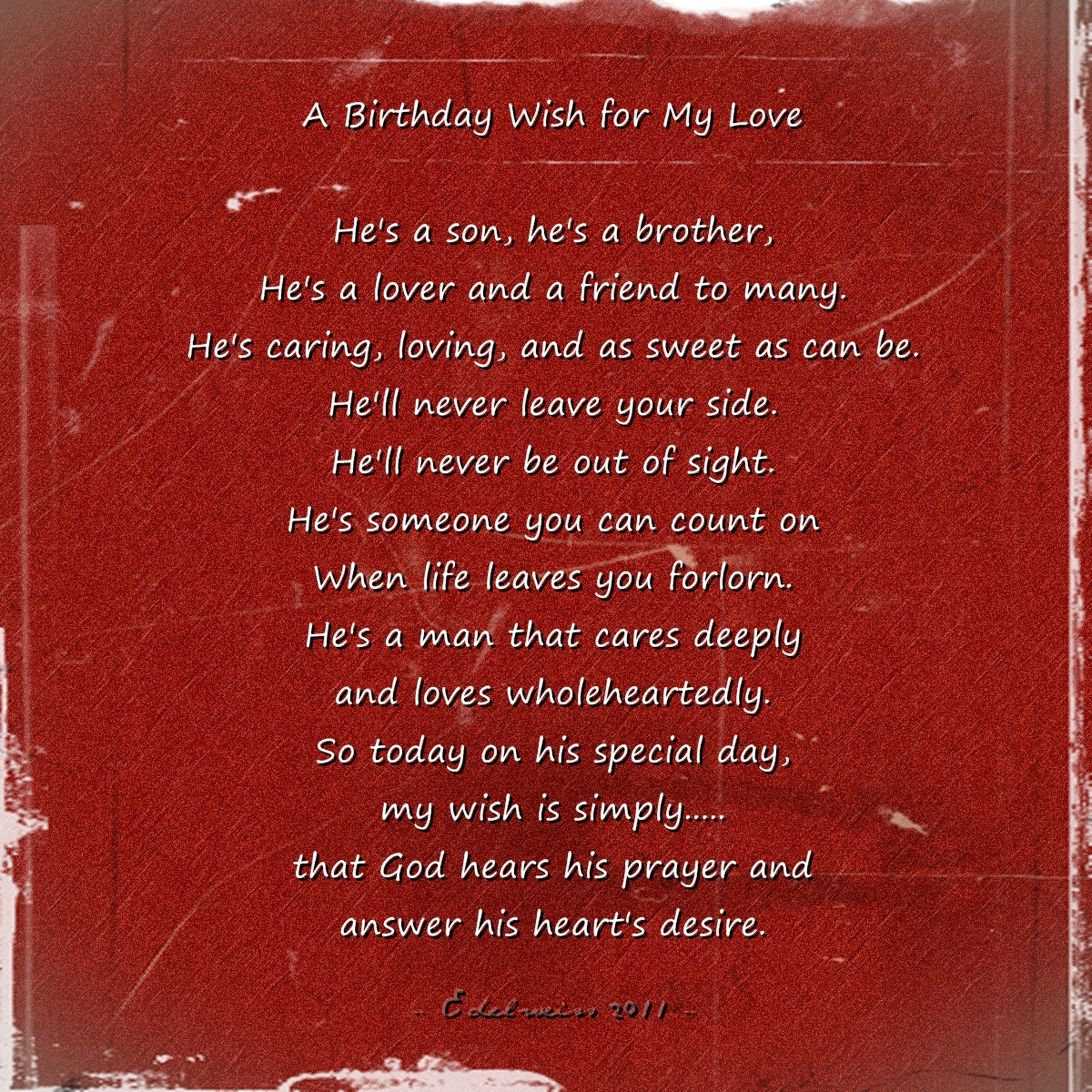 Love Quotes for Him bday wish for hon