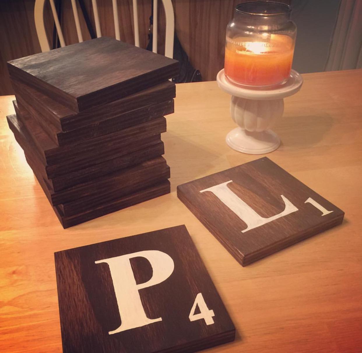 DIY Scrabble Wall Tiles | Rachel & Co.