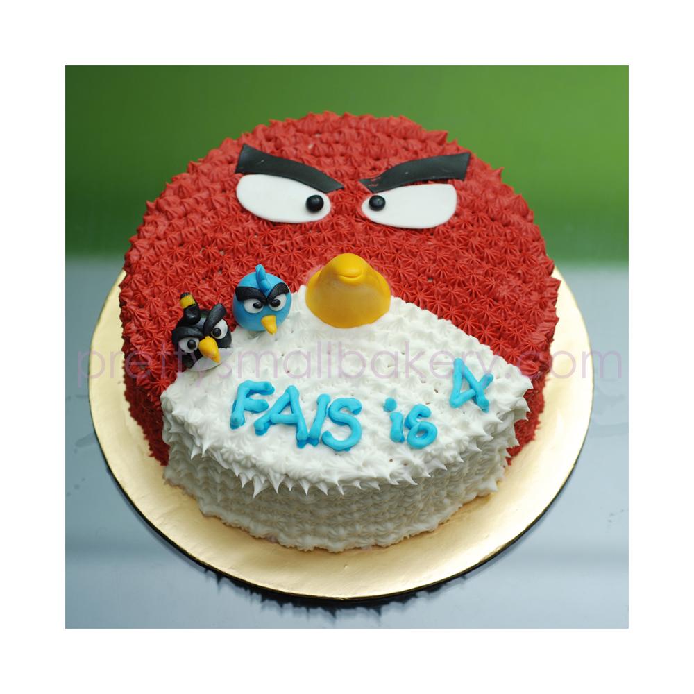 Kek Birthday Angry Birds Prettysmallbakery