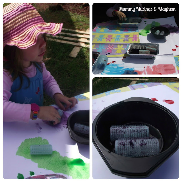 Sensory seeker painting activity