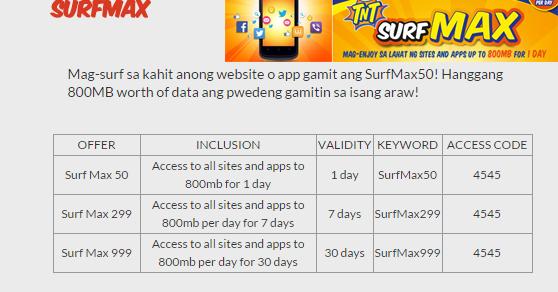 acfe4626c1 Talk N Text SurfMax Internet Promo