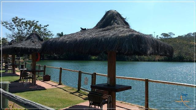 Área para pesca no Rio Quente