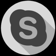 skype whiteout icon