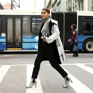 Blogger Camila Coelho Out At New York Fashion Week 2018