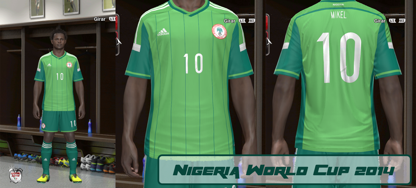 outlet store 88c94 b42d8 Nigeria Kit Home World Cup 2014 V.1 | ABIEL KITS