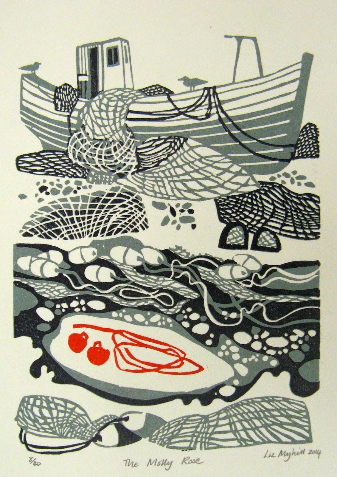 Kitchen Designers Gold Coast Liz Myhill New Linocut Prints