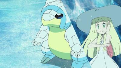 Pokemon Sol y Luna Capitulo 80 Temporada 20 Tormenta sandshrew, batalla doble en la cueva de hielo