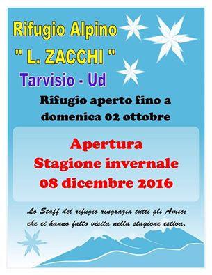 IL RIFUGIO RIAPRE l'8 DICEMBRE 2016