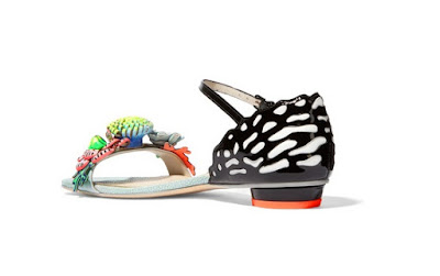 sophia webster underwater lilico appliqued leather sandals flats