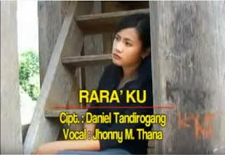 Lirik Lagu Toraja Rara'ku (Jhonny M.Thana)