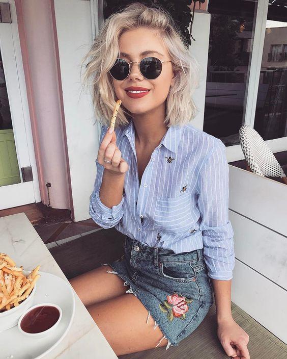 Camisa feminina -   Confira 9 maneiras de usar Blog Cris Felix