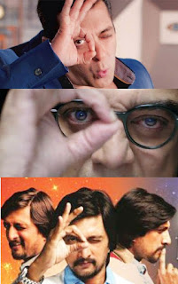 Single Eye Illuminati pose of Bigg Boss TV show anchors in all languages