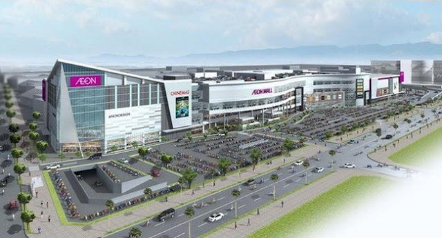Phối cảnh trung tâm thương mại Aeon Mall