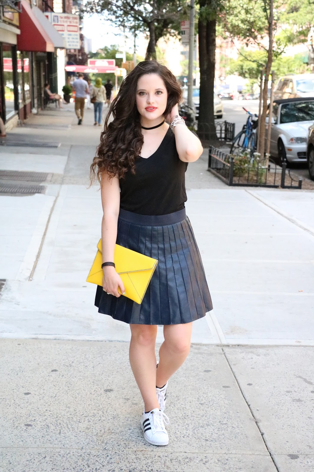 summer fashion pleated skirt
