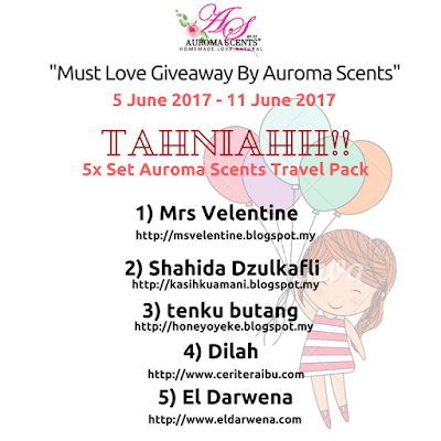 Menang Must Love Giveaway By Aroma Scents
