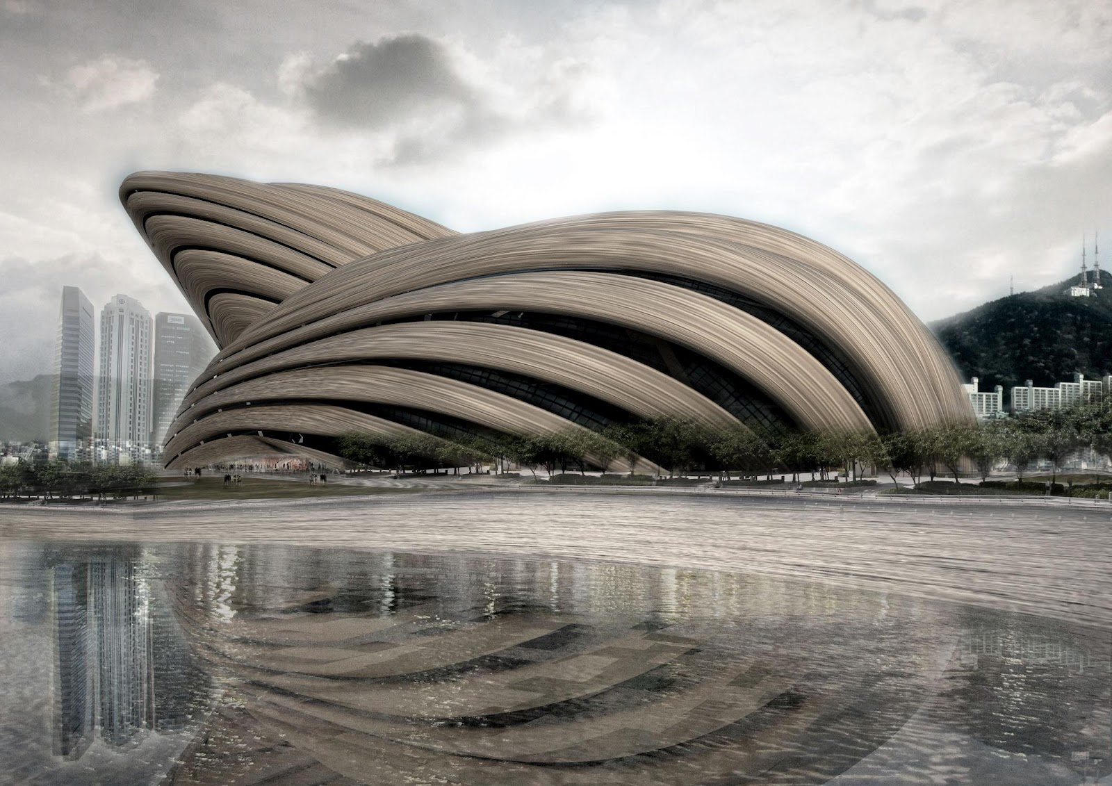 opera amazing architecture busan korea ooda south architectural awesome construction shaped competition