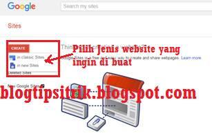 cara membuat dan mendaftar google site