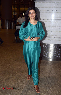Kajal Agarwal Pictures in Jumpsuit at Mumbai Domestic Airport ~ Celebs Next