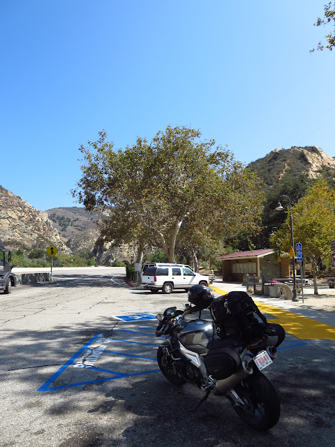 Aprilia Tuono California Rest Stop