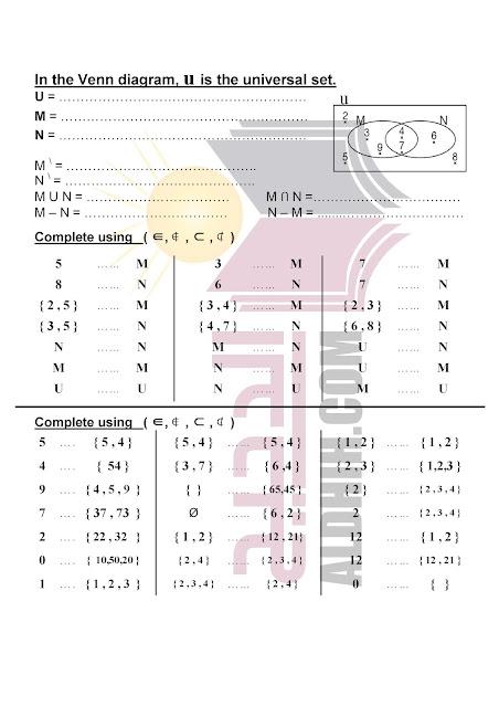 مراجعة math للصف السادس الابتدائي لغات الترم الثانى