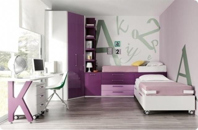 Dormitorios juveniles con armario de rinc n - Armarios para habitacion ...