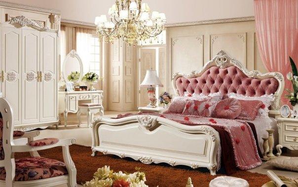 Phòng ngủ được thiết kế mang phong cách tân cổ điển châu âu