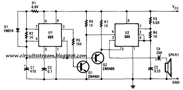 simple whooper circuit diagram