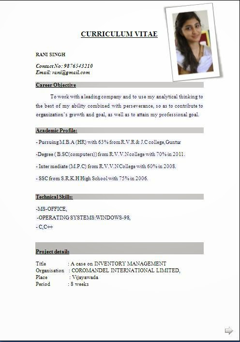 resume template for fresher free word excel pdf format sample resume for freshers pdf format for - Sample Resumes Pdf