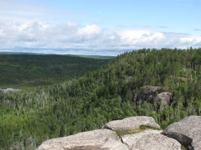 a valley view on the Superior Hiking Trail