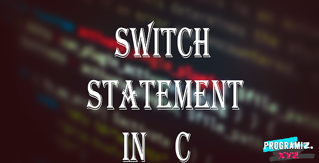 Switch Statement In C Programming Language
